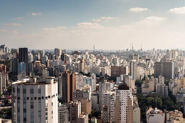 Sao Paulo Cityscape, Brazil stock photo