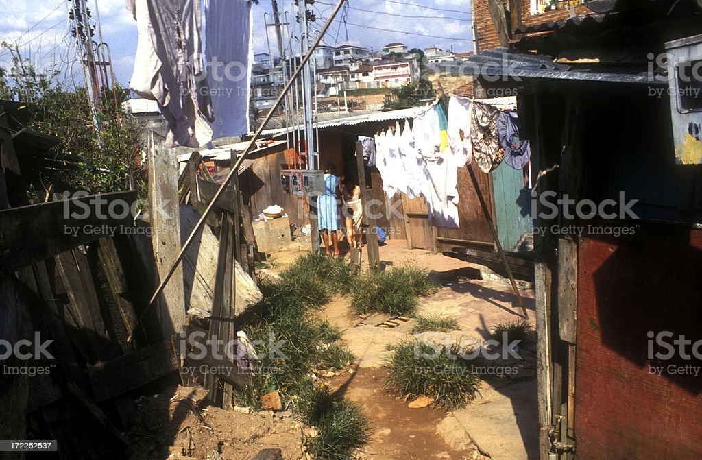 Sao Paulo Down town slum stock photo