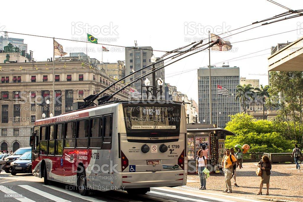 Sao Paulo downtown stock photo
