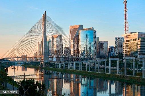 Sao Paulo Brazil Octavio Frias de Oliveira Bridge