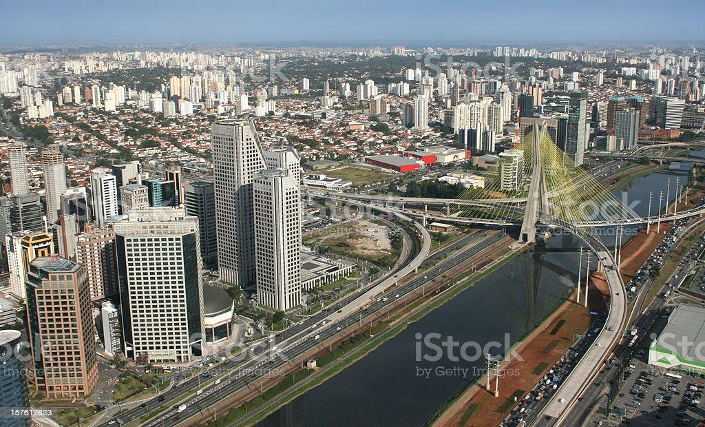 Sao Paulo - Ponte Estaiada royalty-free stock photo