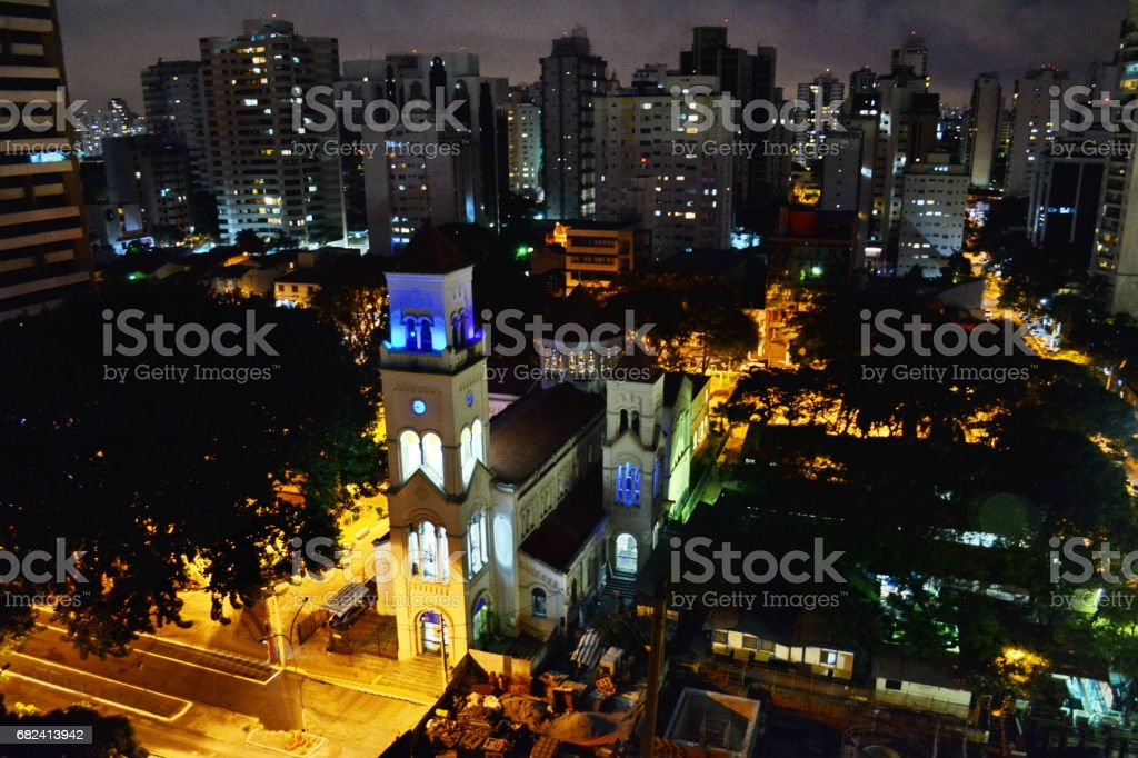 São Paulo seen from above royalty-free stock photo