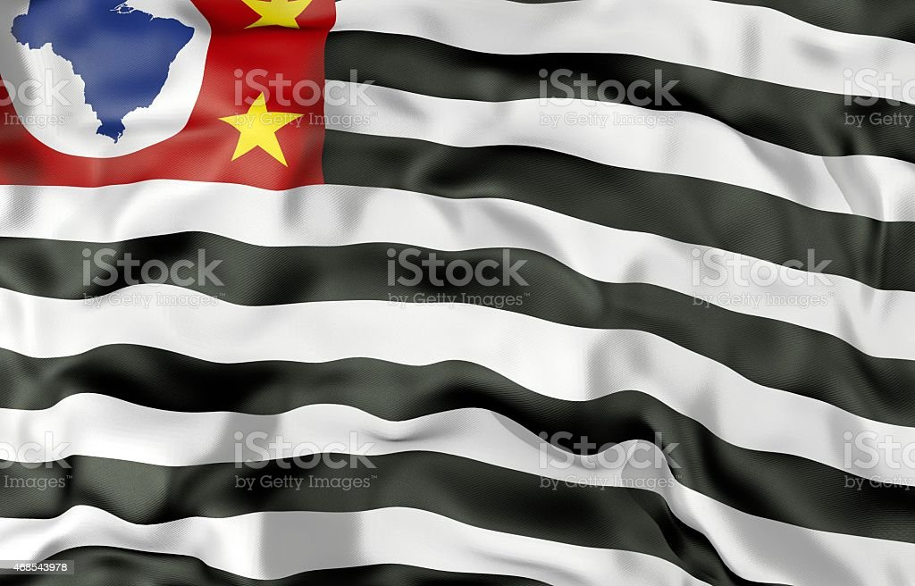 Sao Paulo state flag 3d illustration stock photo