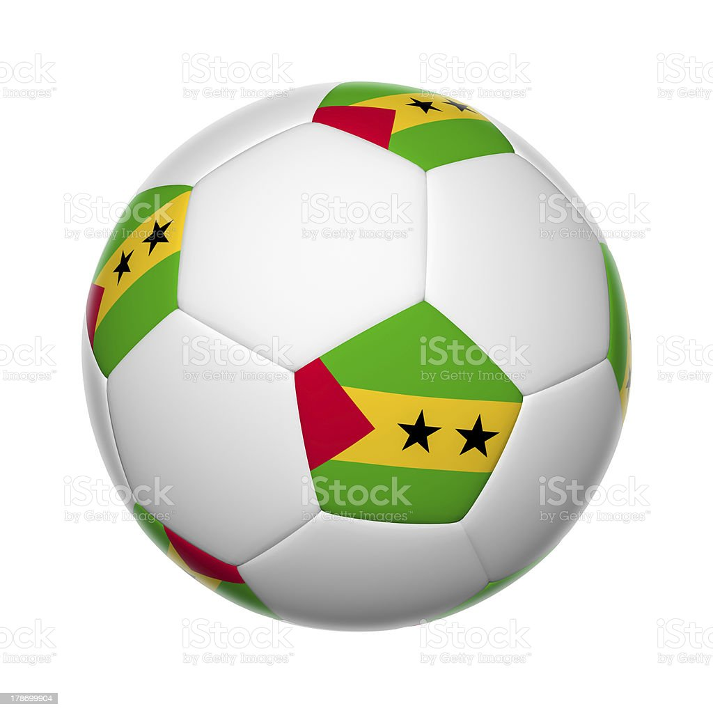 Sao Tome and Principe soccer ball stock photo