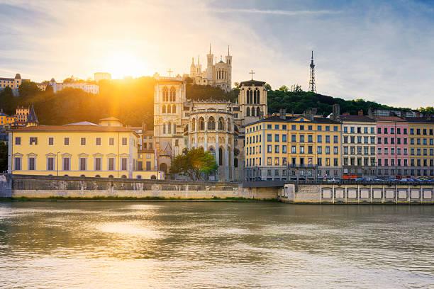 Rivière Saône au coucher du soleil - Photo