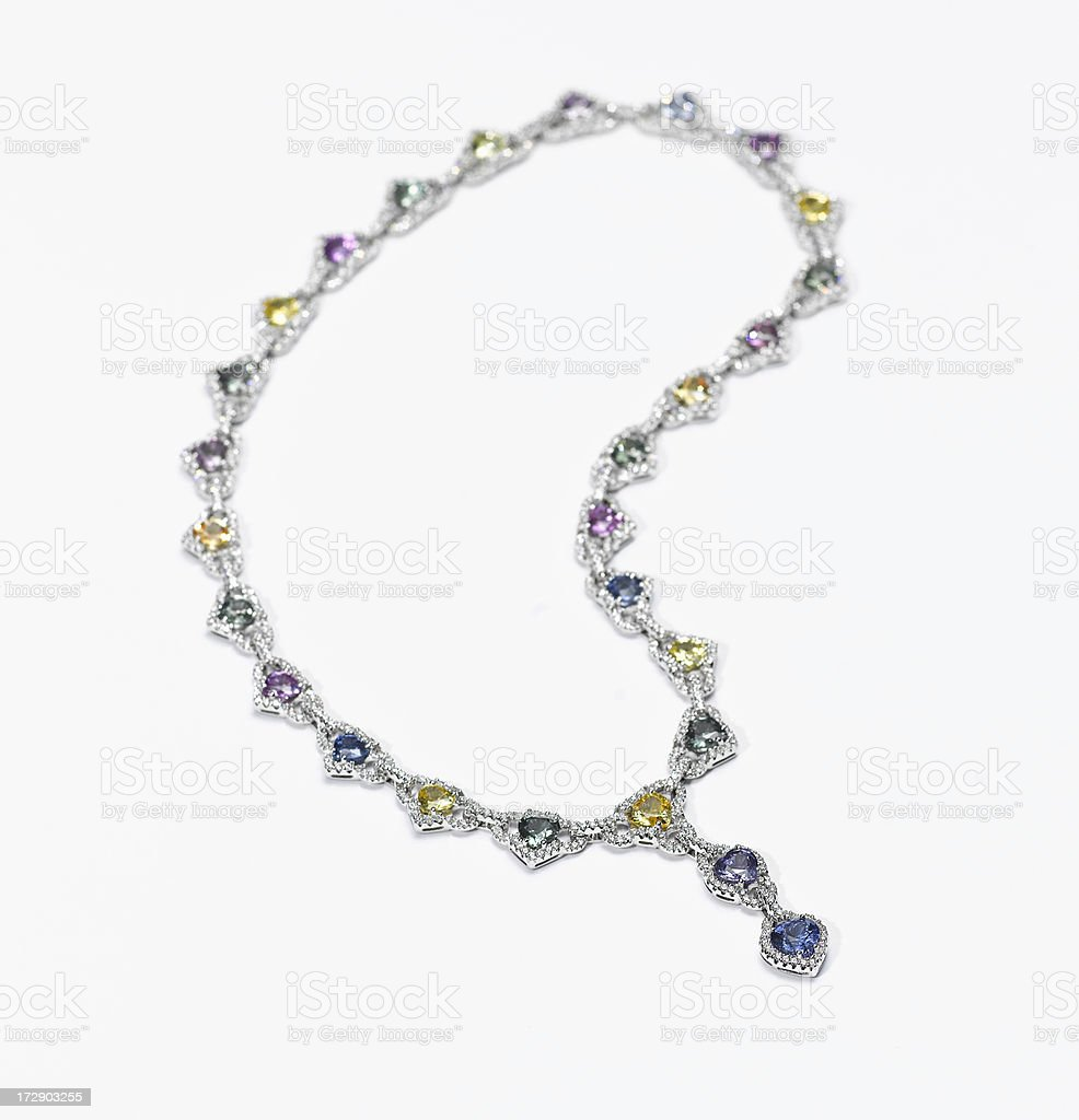 Sapphire and Diamond Necklace royalty-free stock photo