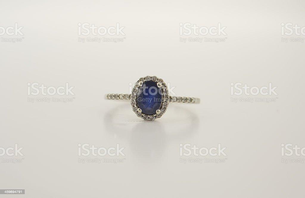 Sapphire and Diamond Ring stock photo