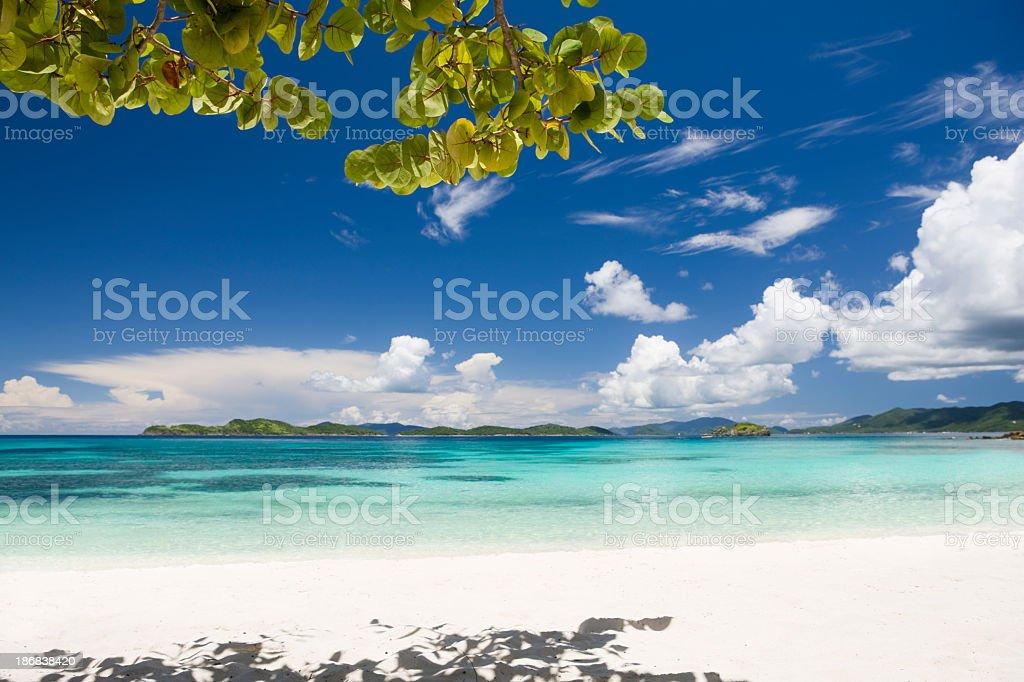 Sapphire Beach, St. Thomas, US Virgin Islands royalty-free stock photo