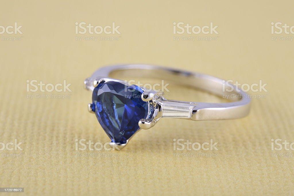 Sapphire & Diamond Ring royalty-free stock photo