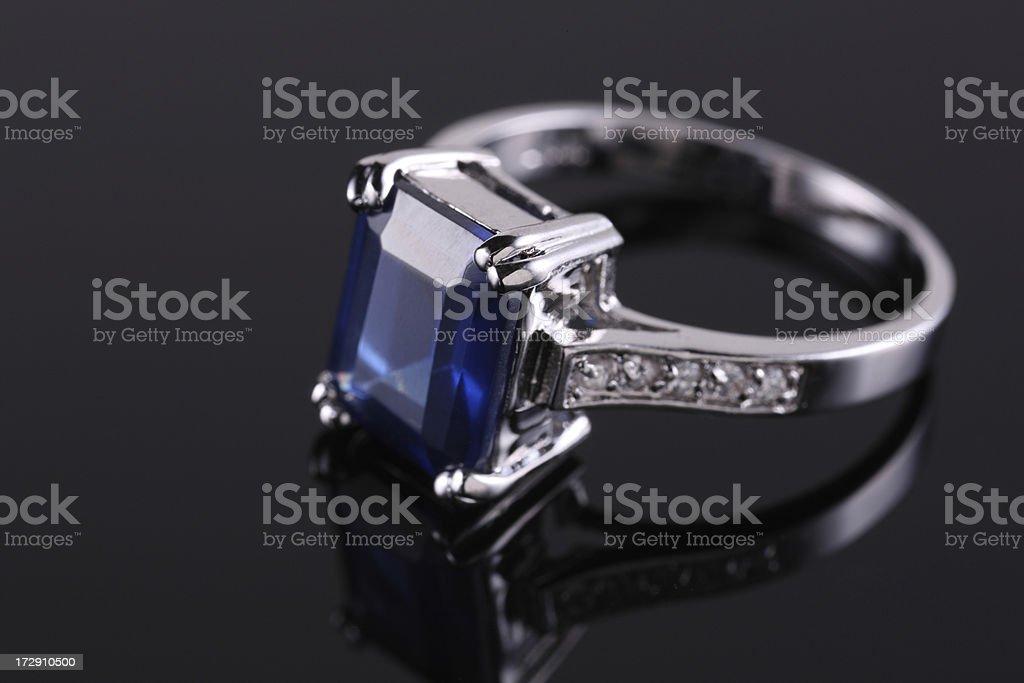 Sapphire Diamond Ring stock photo