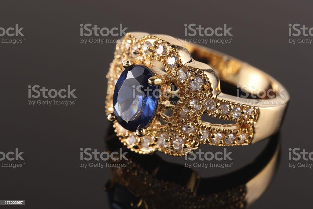 Sapphire Diamond Ring royalty-free stock photo