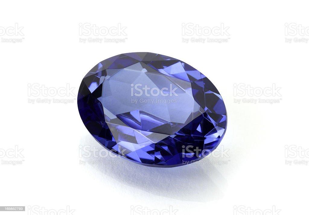 Sapphire or Tanzanite royalty-free stock photo