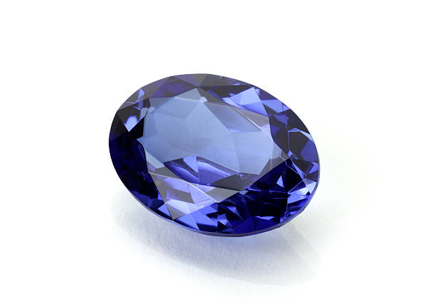 sapphire or tanzanite - sapphire gemstone stock photos and pictures