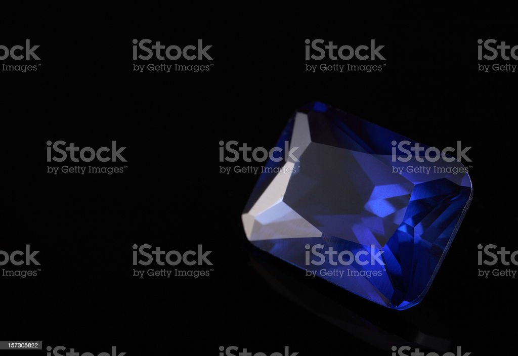 Sapphire Stone stock photo