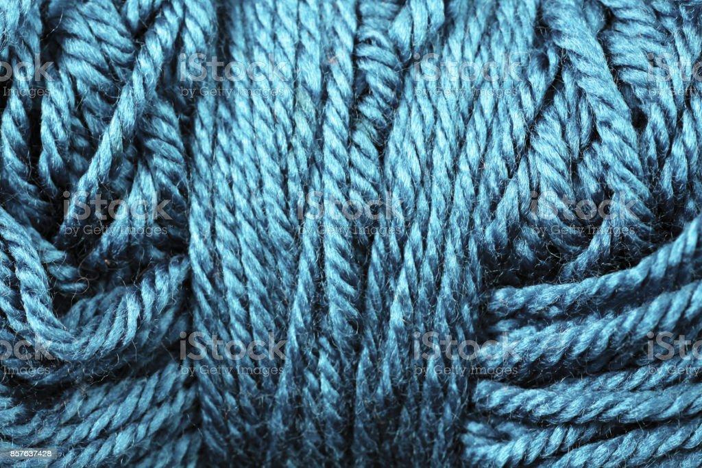 Sapphire Yarn Texture Close Up stock photo