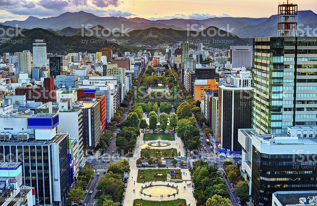 札幌は、大通公園 - アジア大陸のロイヤリティフリーストックフォト