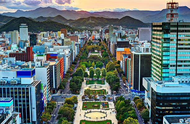 Sapporo at Odori Park stock photo