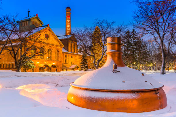 sapporo beer factory - sapporo stock photos and pictures