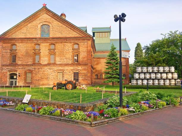 sapporo beer museum - sapporo stock photos and pictures