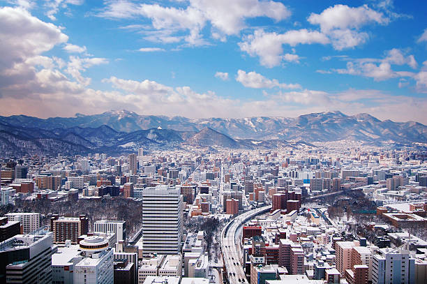 sapporo city - sapporo stock photos and pictures