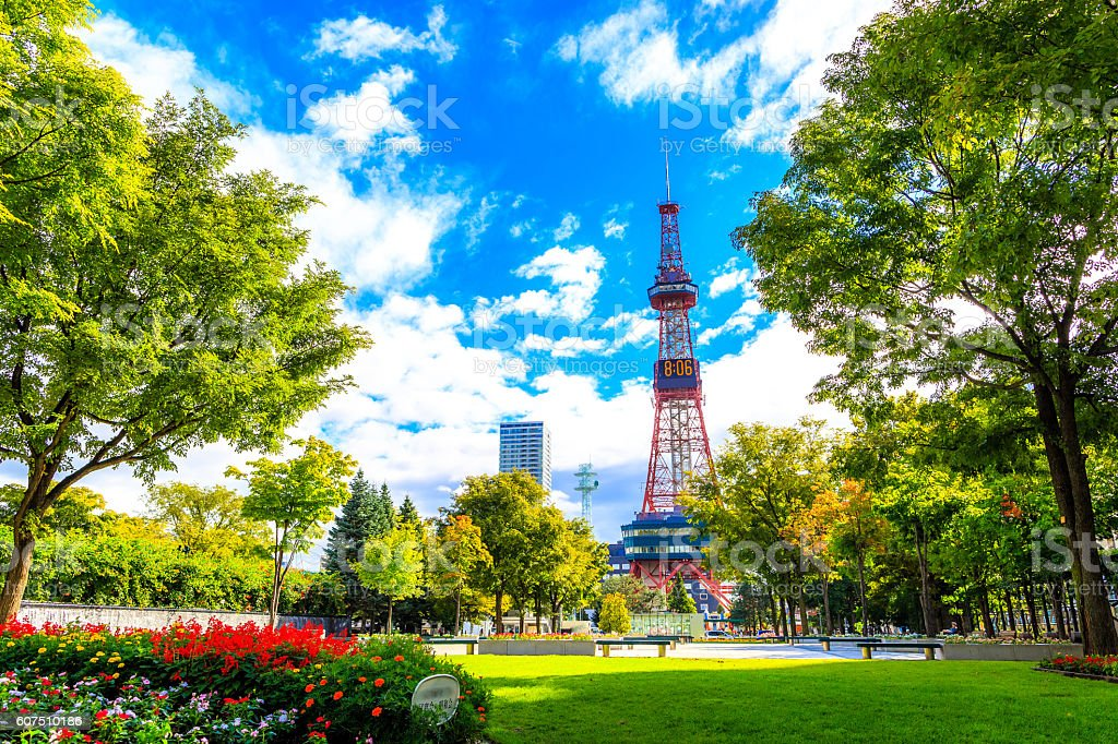 Sapporo, Japan -  9 September 2016 - Television tower royalty-free stock photo