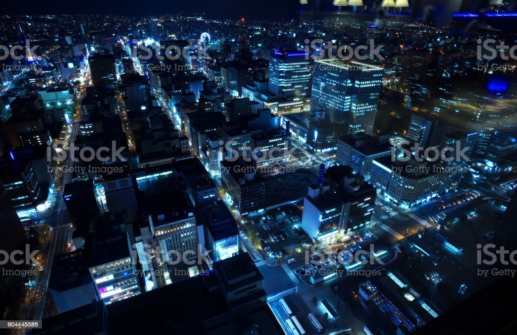 Sapporo Of The New Japan Three Major Night View Stock Photo