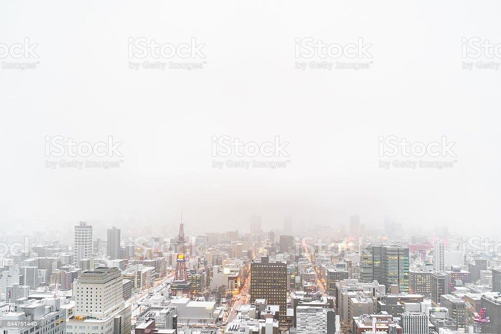 Sapporo TV Tower in Sapporo stock photo