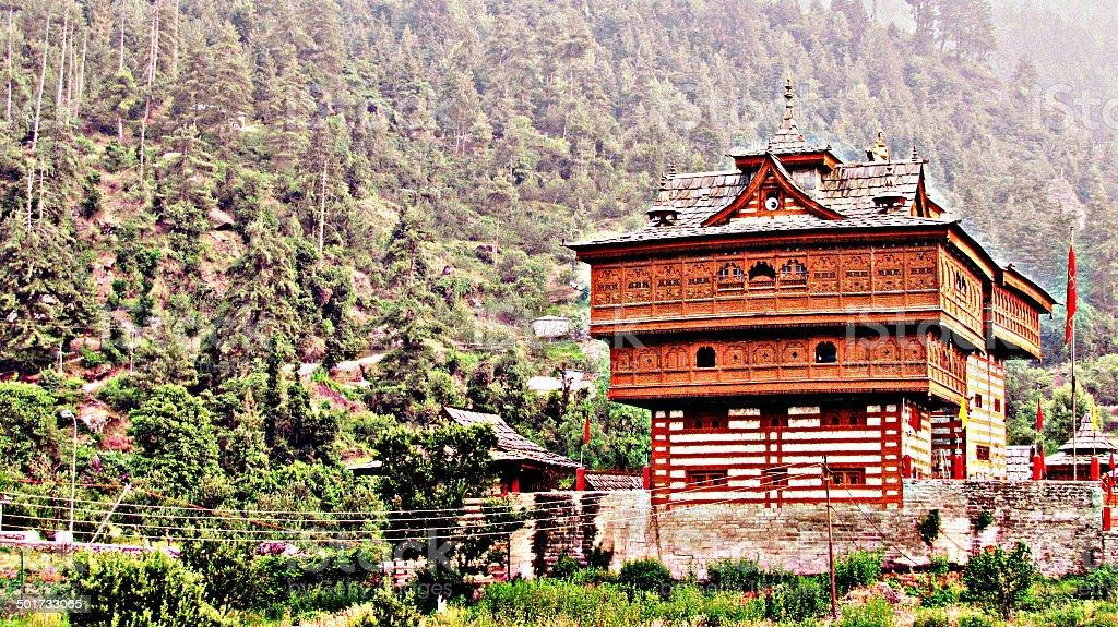 Sarahan Temple, Himachal Pradesh stock photo