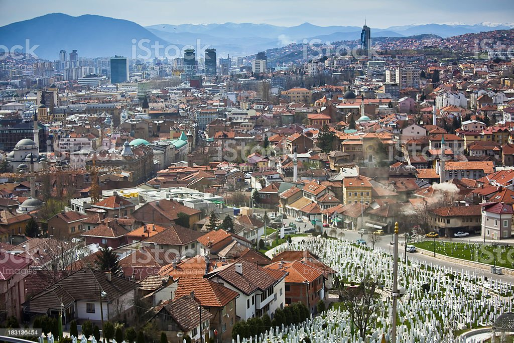 Sarajevo Cityscape royalty-free stock photo