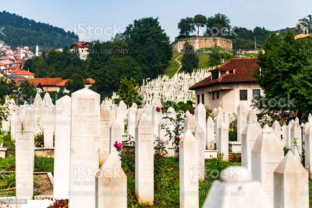 Sarajevo Graveyard stock photo