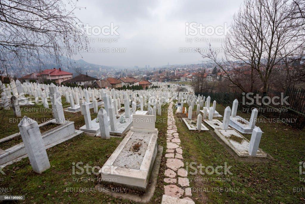Sarajevo Memorial and Cemetery stock photo