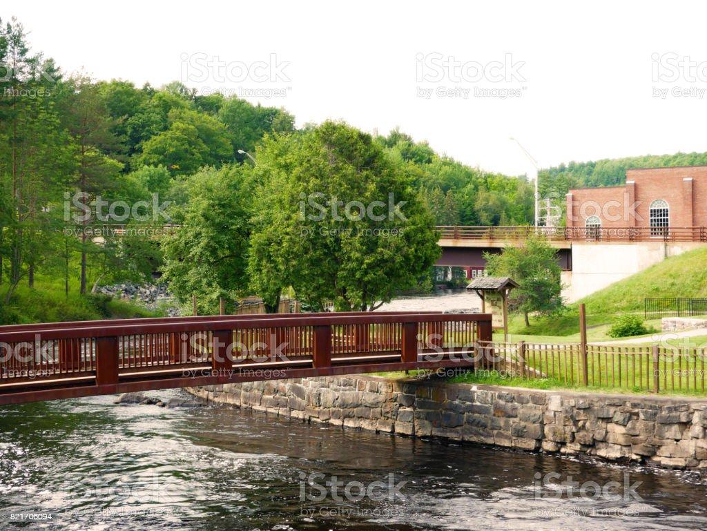 Saranac Lake landscape stock photo