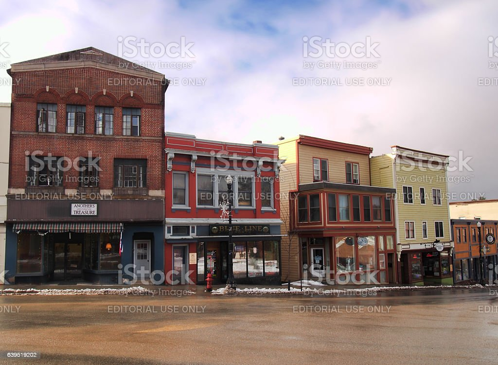 Saranac Lake stock photo