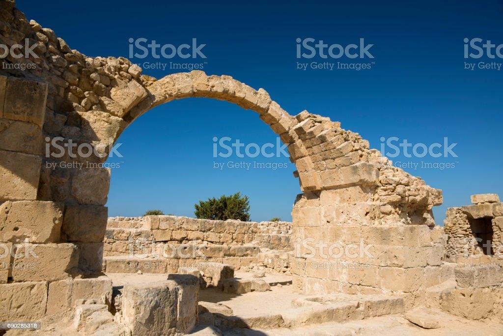 Saranda Kolones Castle stock photo