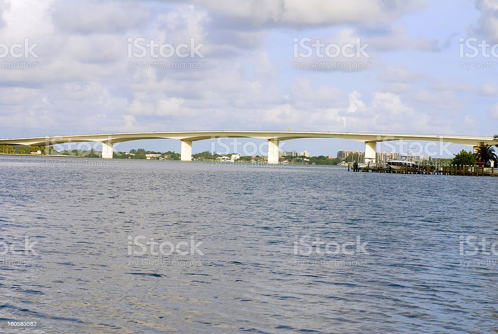 Sarasota Ringling Bridge royalty-free stock photo