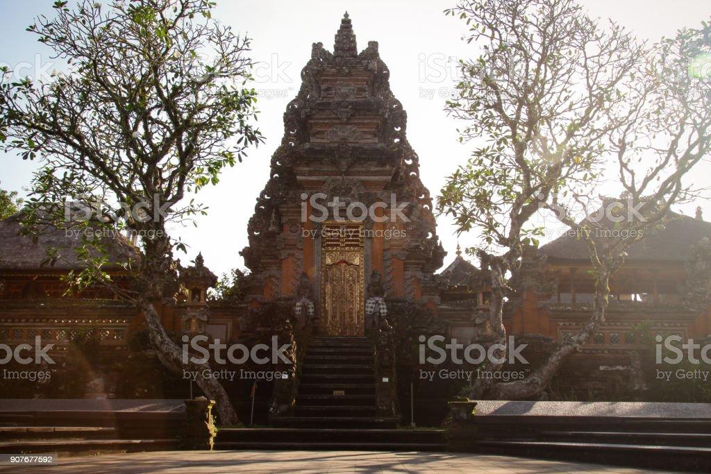 Saraswati Temple in Ubud Bali stock photo