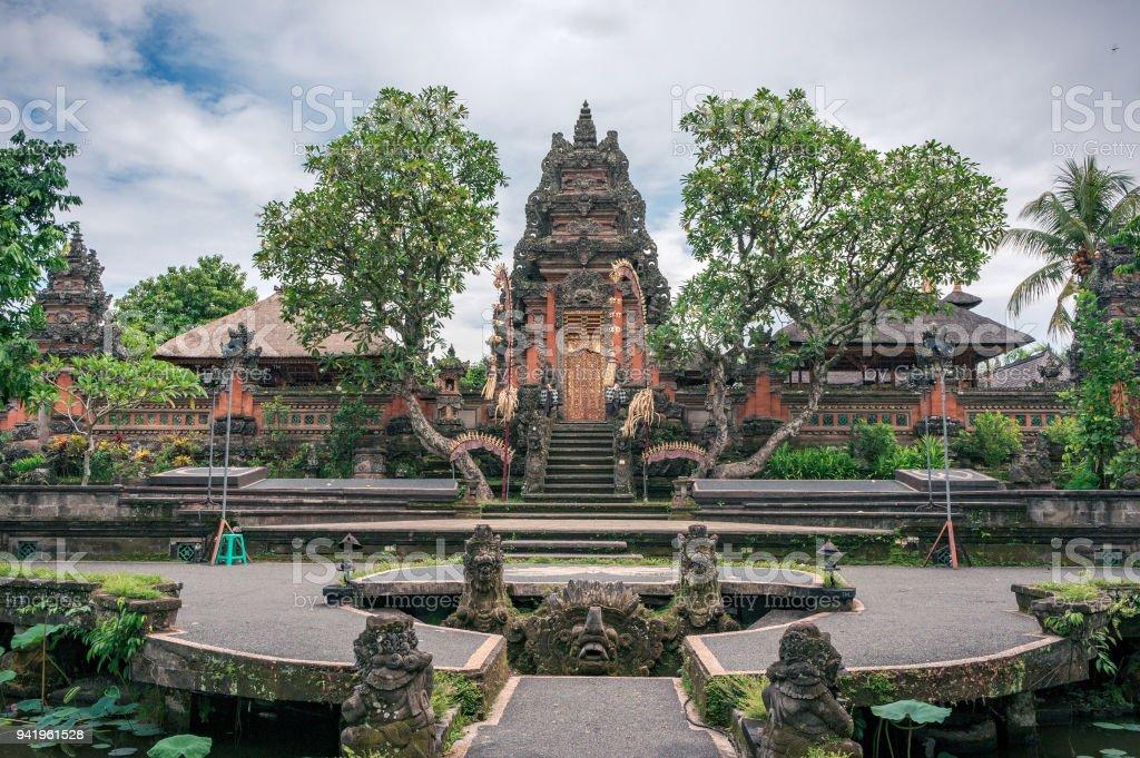 Saraswati temple on Bali stock photo