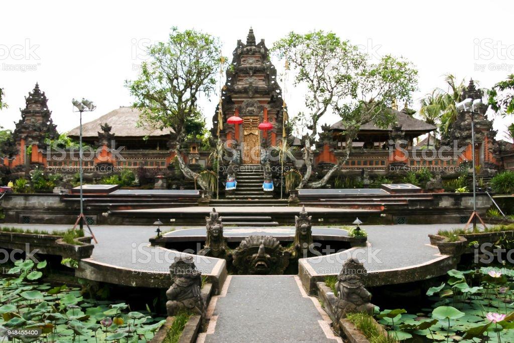 Saraswati temple ubud bali indonesia stock photo