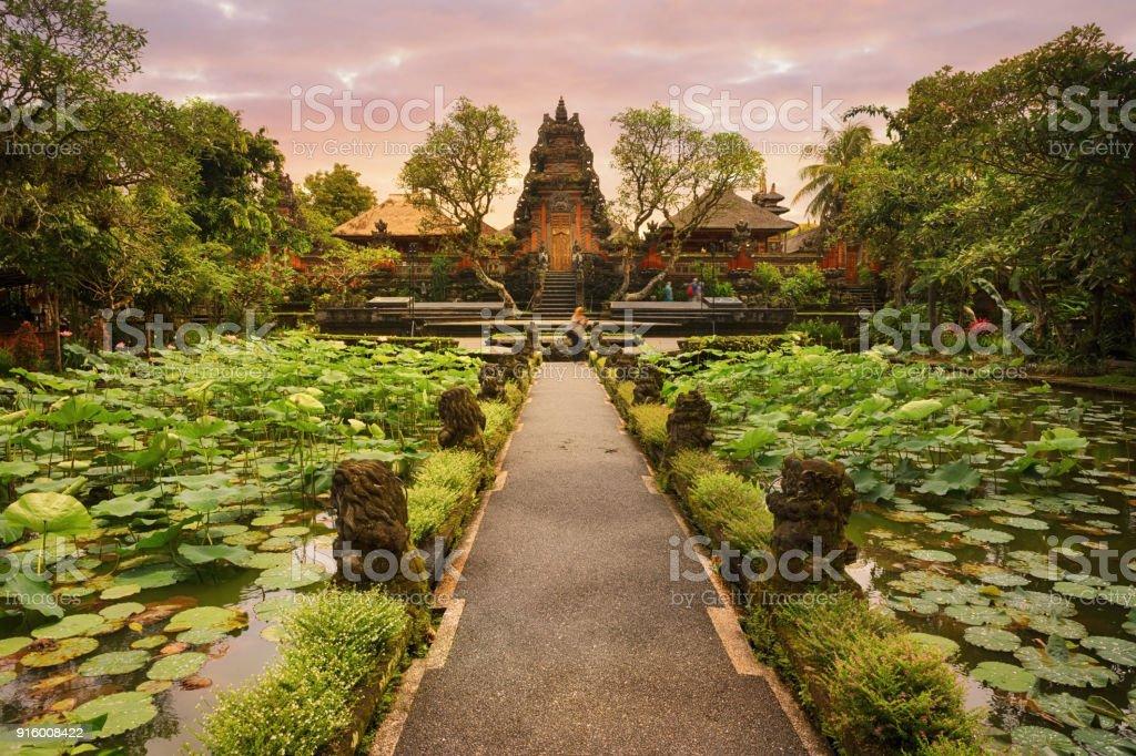 Saraswati Temple, Ubud, Bali stock photo