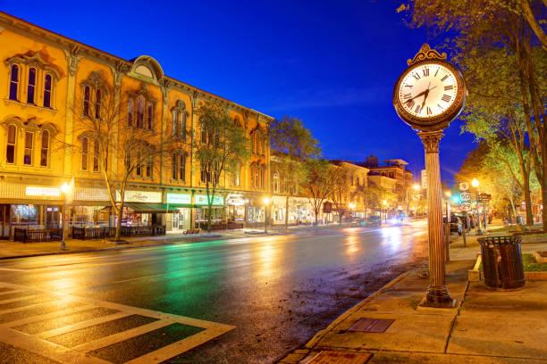Saratoga Springs, New York stock photo