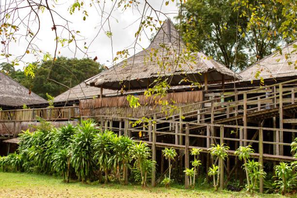 Sarawak Cultural Village Borneo stock photo