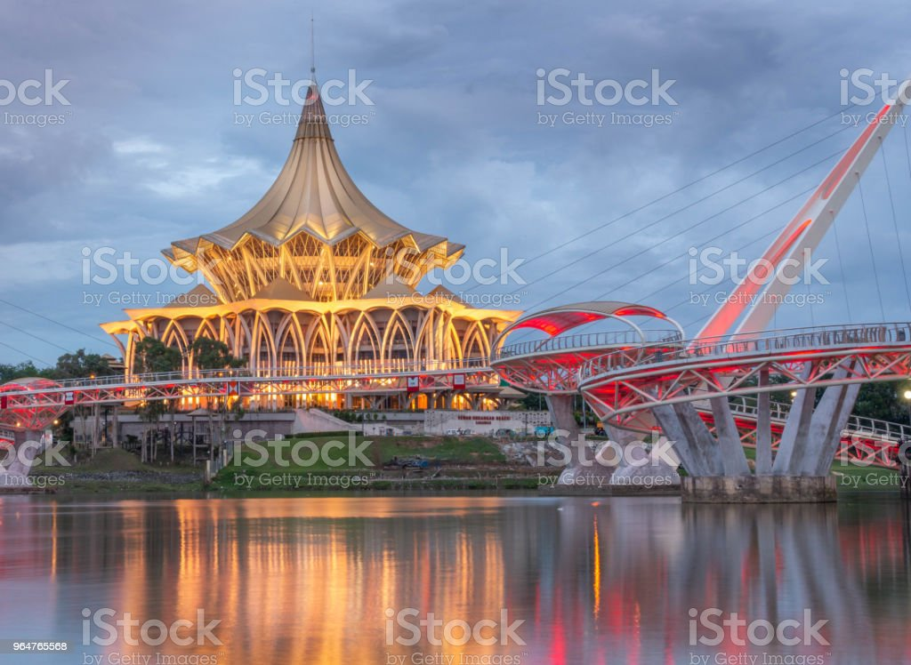 Sarawak National Assembly Building royalty-free stock photo