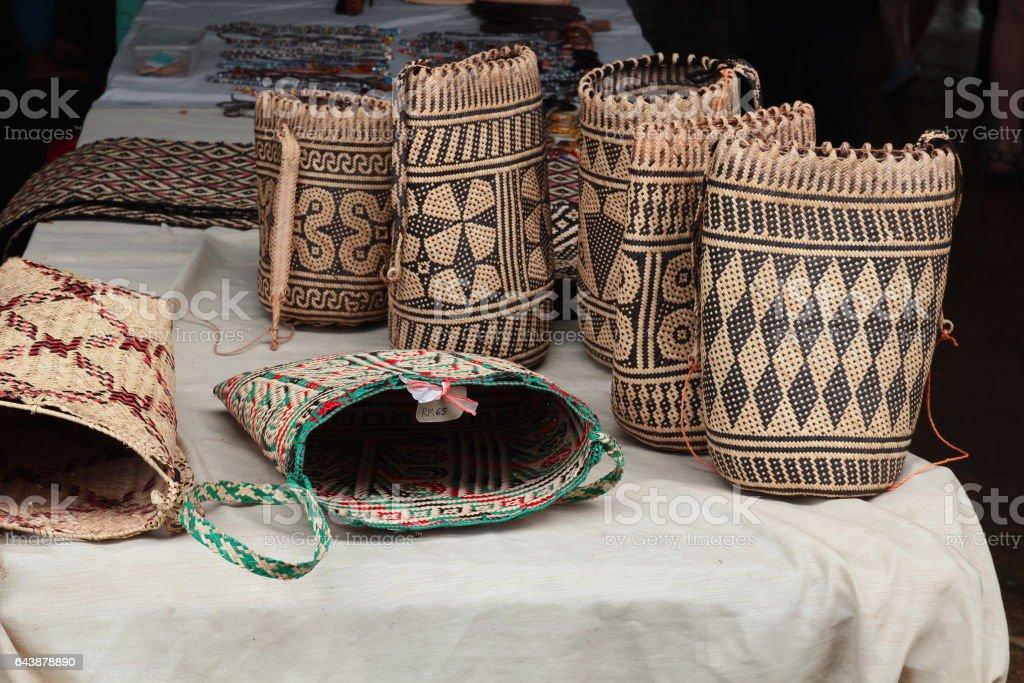 Sarawak native traditional handicrafts stock photo