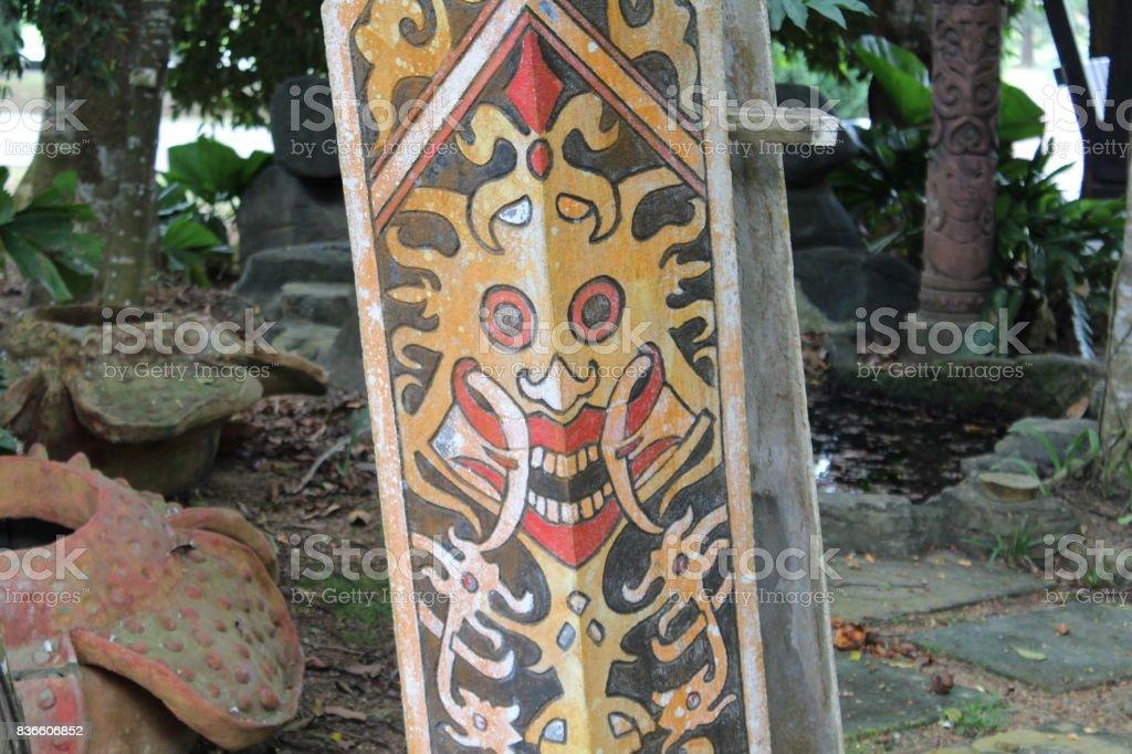 Sarawak shield stock photo