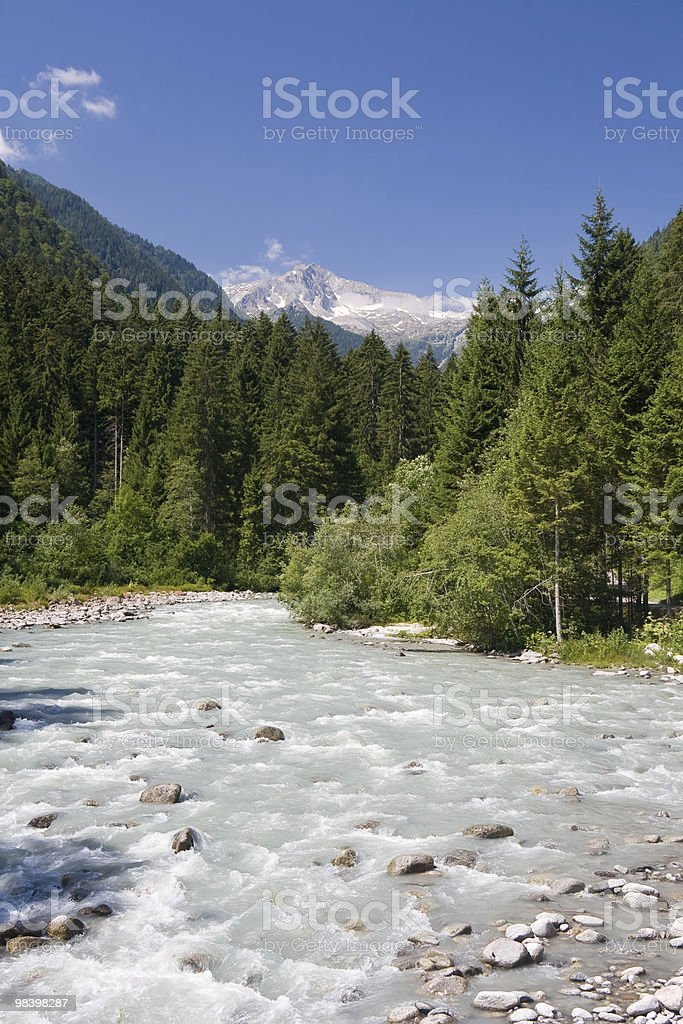 Sarca stream,  Italy royalty-free stock photo