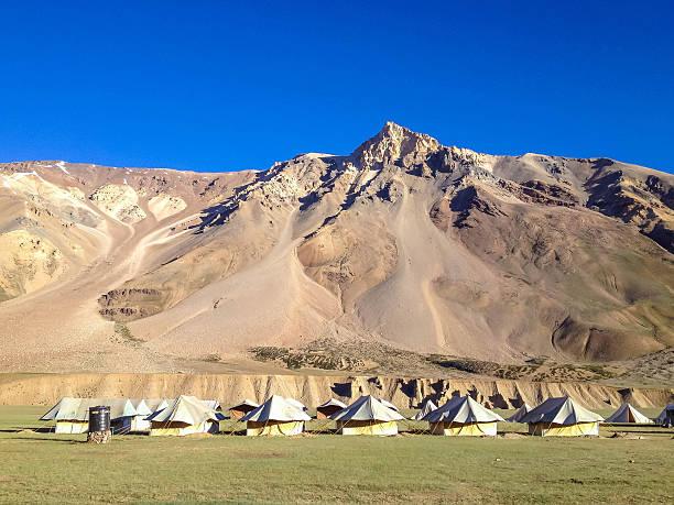 Sarchu camp, Manali-Leh highway, Ladakh, India stock photo