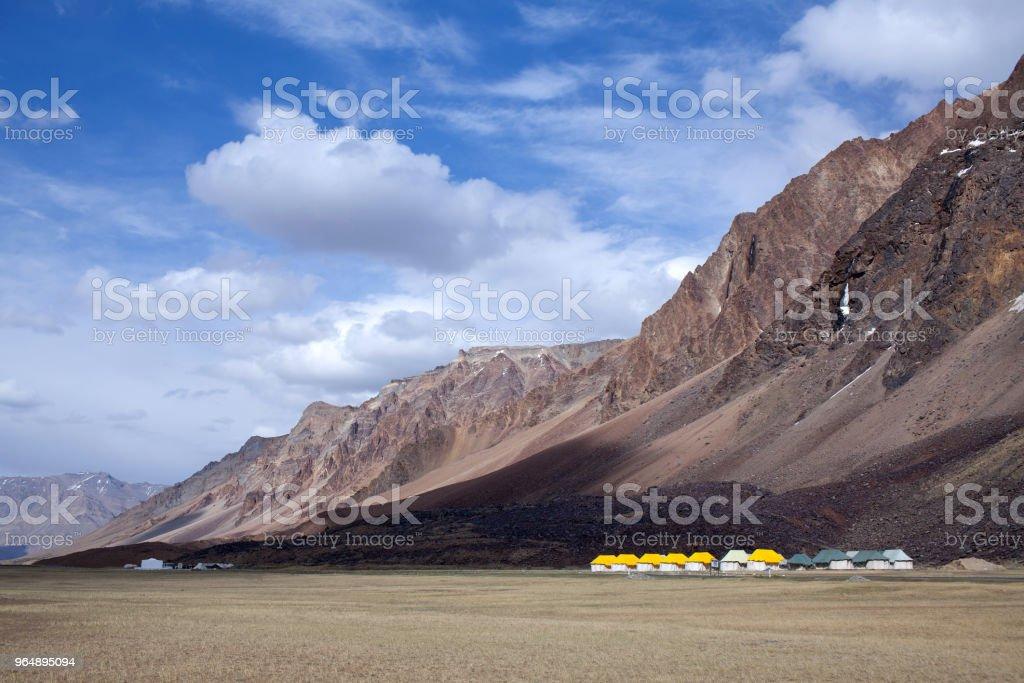 Sarchu camping tents in Ladakh, India royalty-free stock photo