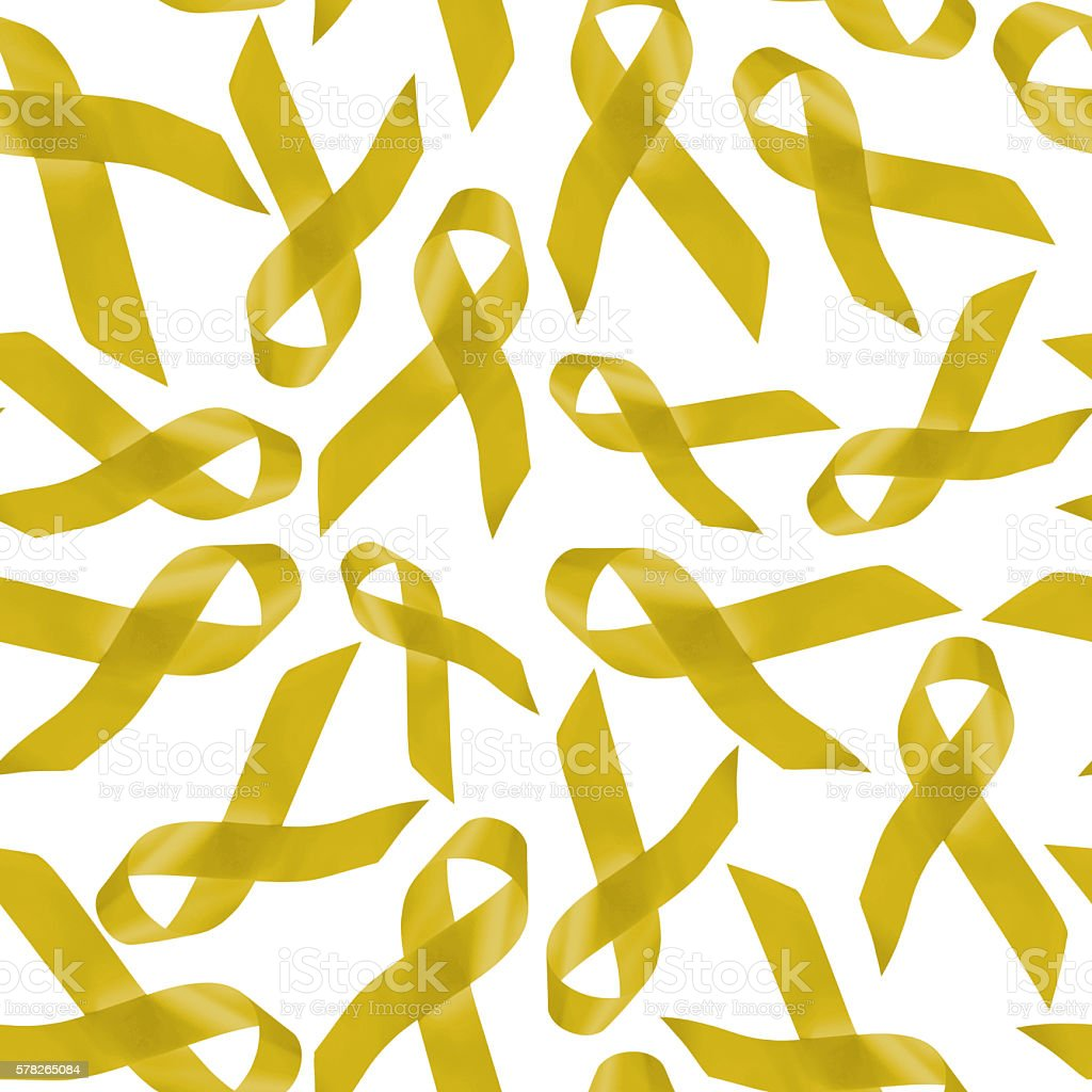 Sarcoma cancer seamless pattern with ribbons stock photo