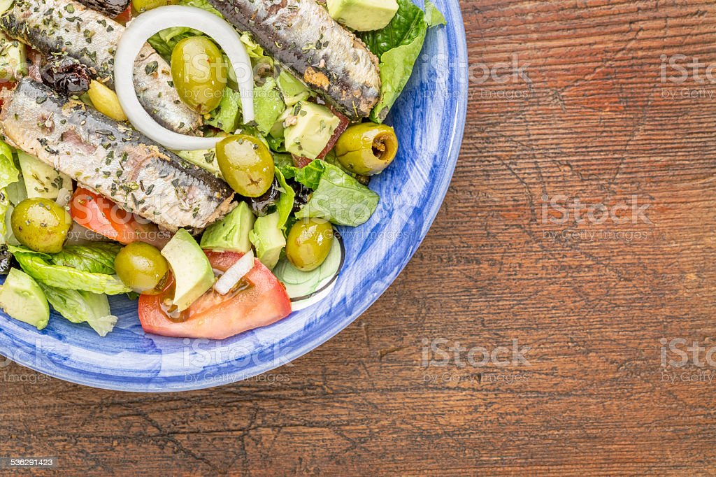 Ensalada de sardinas - Foto de stock de 2015 libre de derechos
