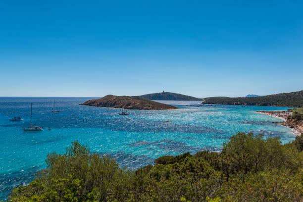 Sardinien Isola Tuarredda Island Beach View Sardegna Chia – Foto